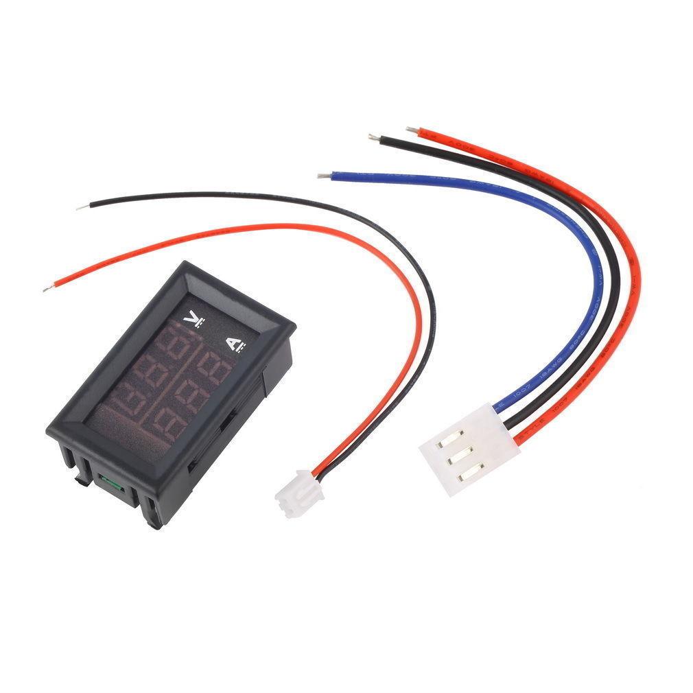 Dc Digital Voltage Meter : Dc v a voltmeter ammeter blue red led dual digital