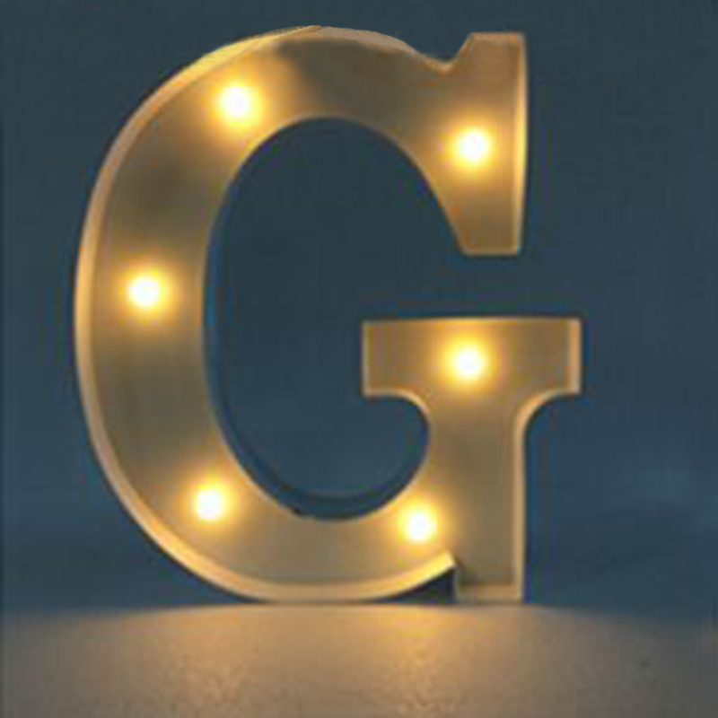 Metal led 12quot marquee letter lights vintage circus style for Metal letters with lights