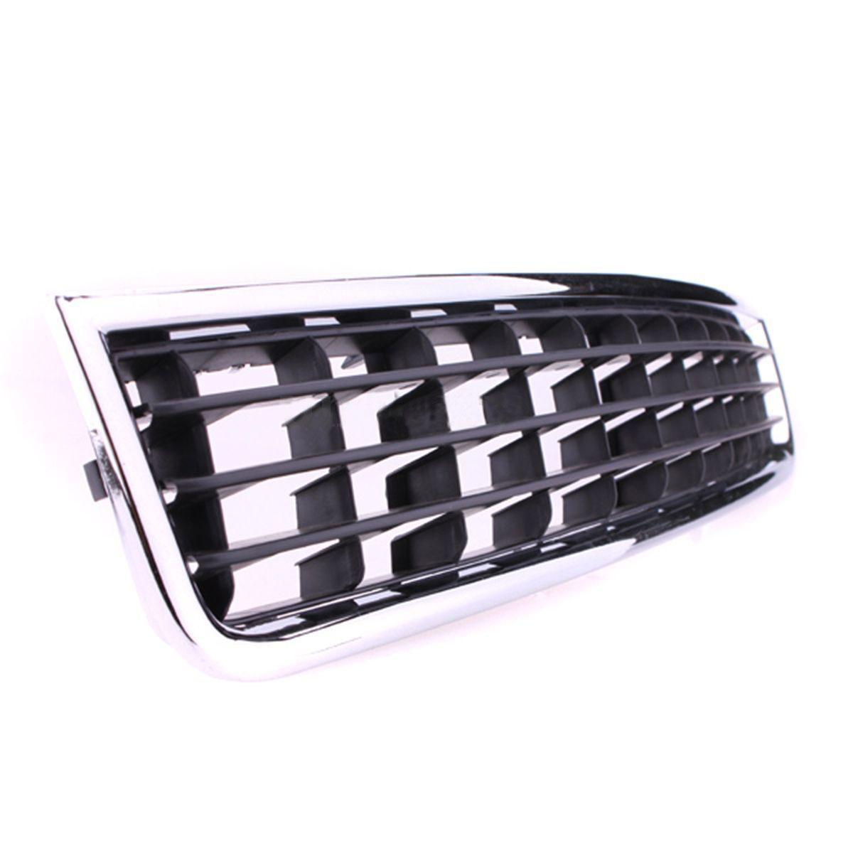 Black Chrome Front Bumper Lower Centre Grille Trim For
