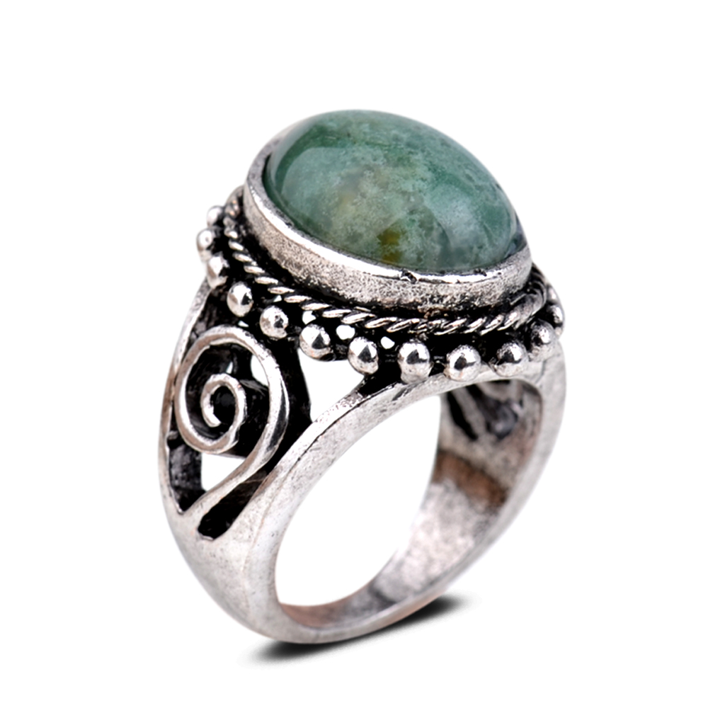 tibetan silver turquoise cocktail ring