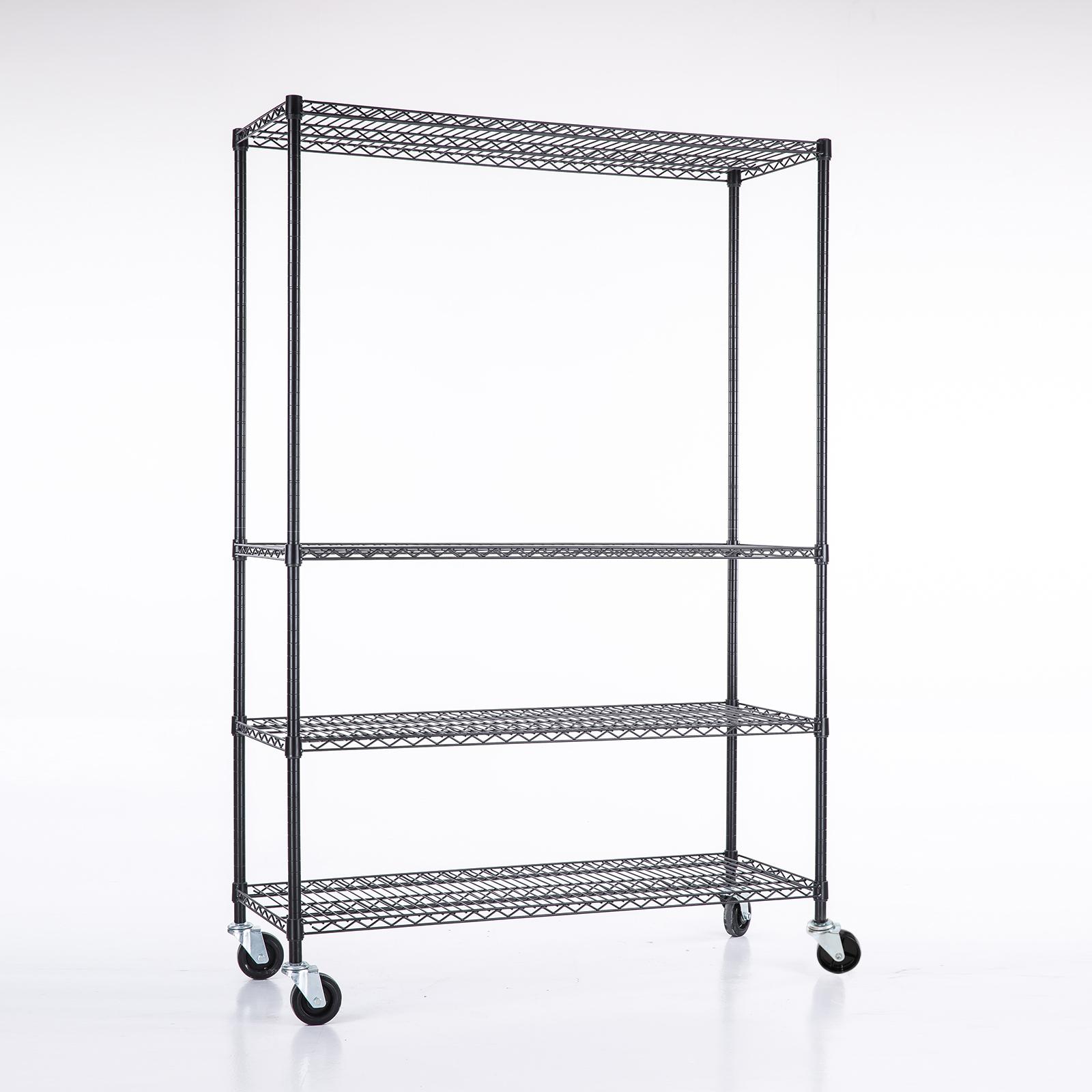 Metal Wire Shelving : Tier layer shelf steel wire metal shelving rack