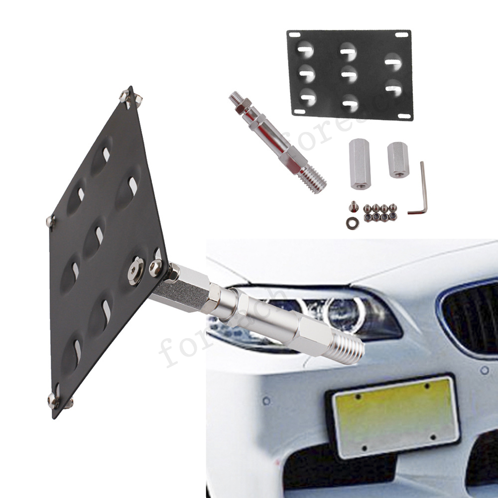 Front Bumper Tow Hook License Plate Holder Mounting