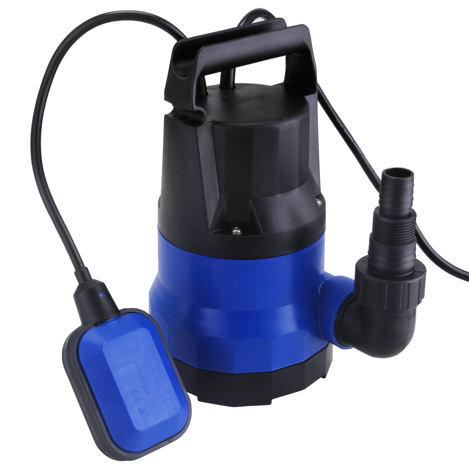 2000gph submersible water pump 1 2 hp clean dirty swimming for Pond drain pump