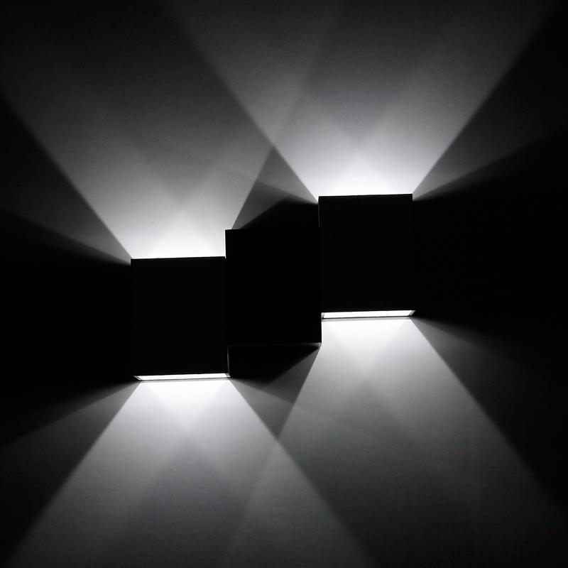 6w led wandleuchte flurleuchte wandlampe effektlampe for Deckenleuchte led strahler