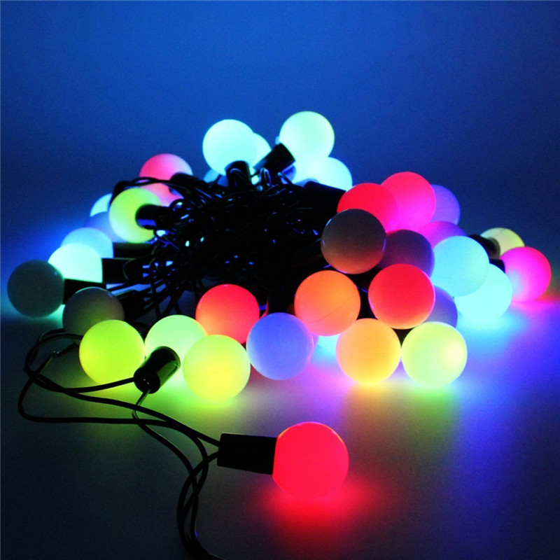 led kugeln lichterkette weihnachten bunt led kette au en garten deko leuchte ebay. Black Bedroom Furniture Sets. Home Design Ideas