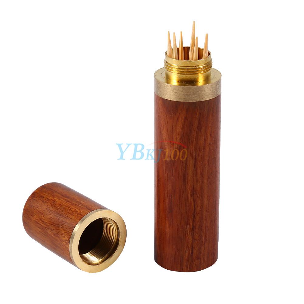 1pc ebony rosewood toothpick holder case box capsule portable wood wooden crafts ebay - Wooden pocket toothpick holder ...