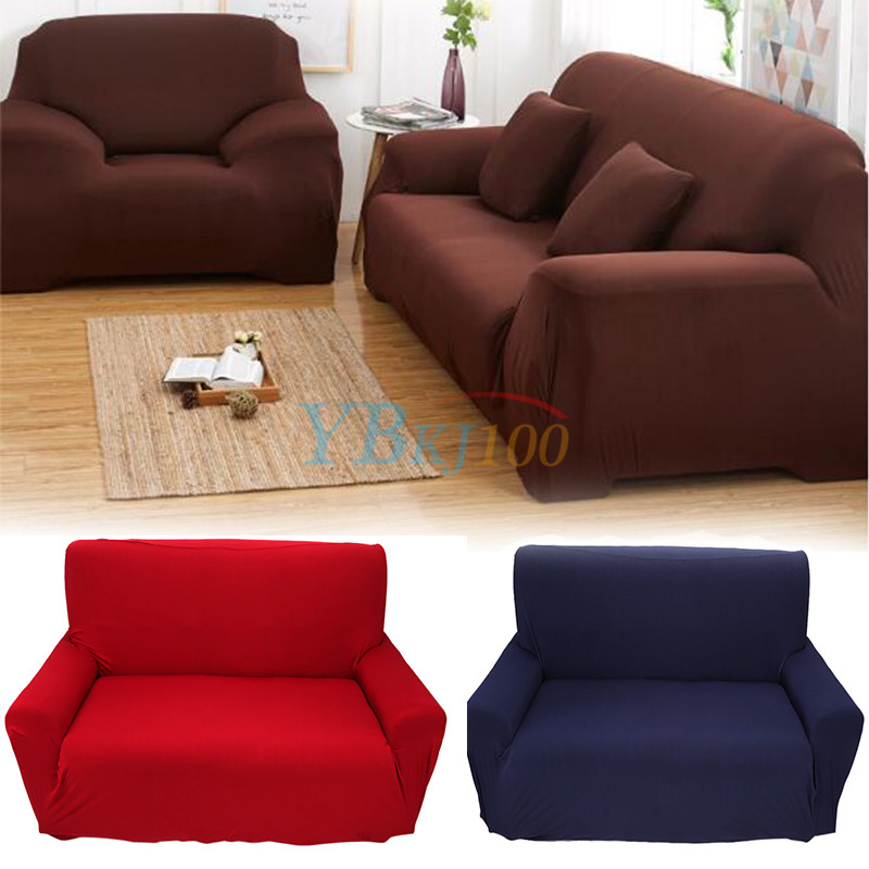 Hot 1 2 3 4 seater stretch elastic slipcover sofa cover for Washable couch cover