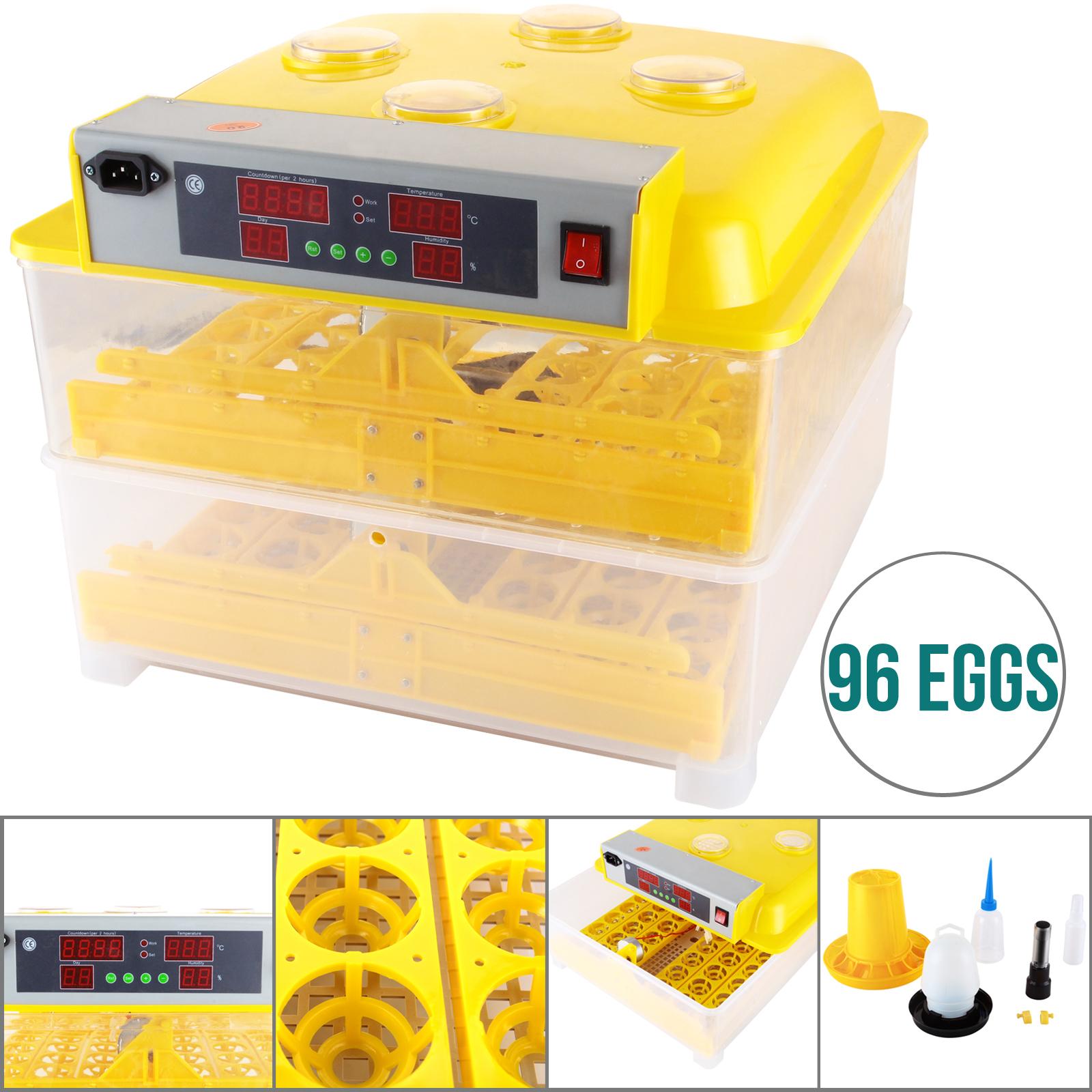 96 Digital Egg Incubator Hatcher Temperature Control Automatic Turning  #C09E0B