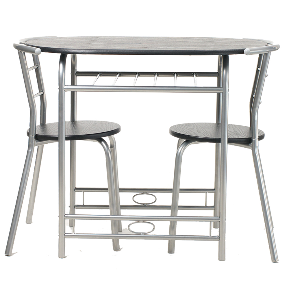 Dining Table And 2 Chairs Set Metal Leg Mdf Seat Kitchen Dining Room 3 Pieces Ebay