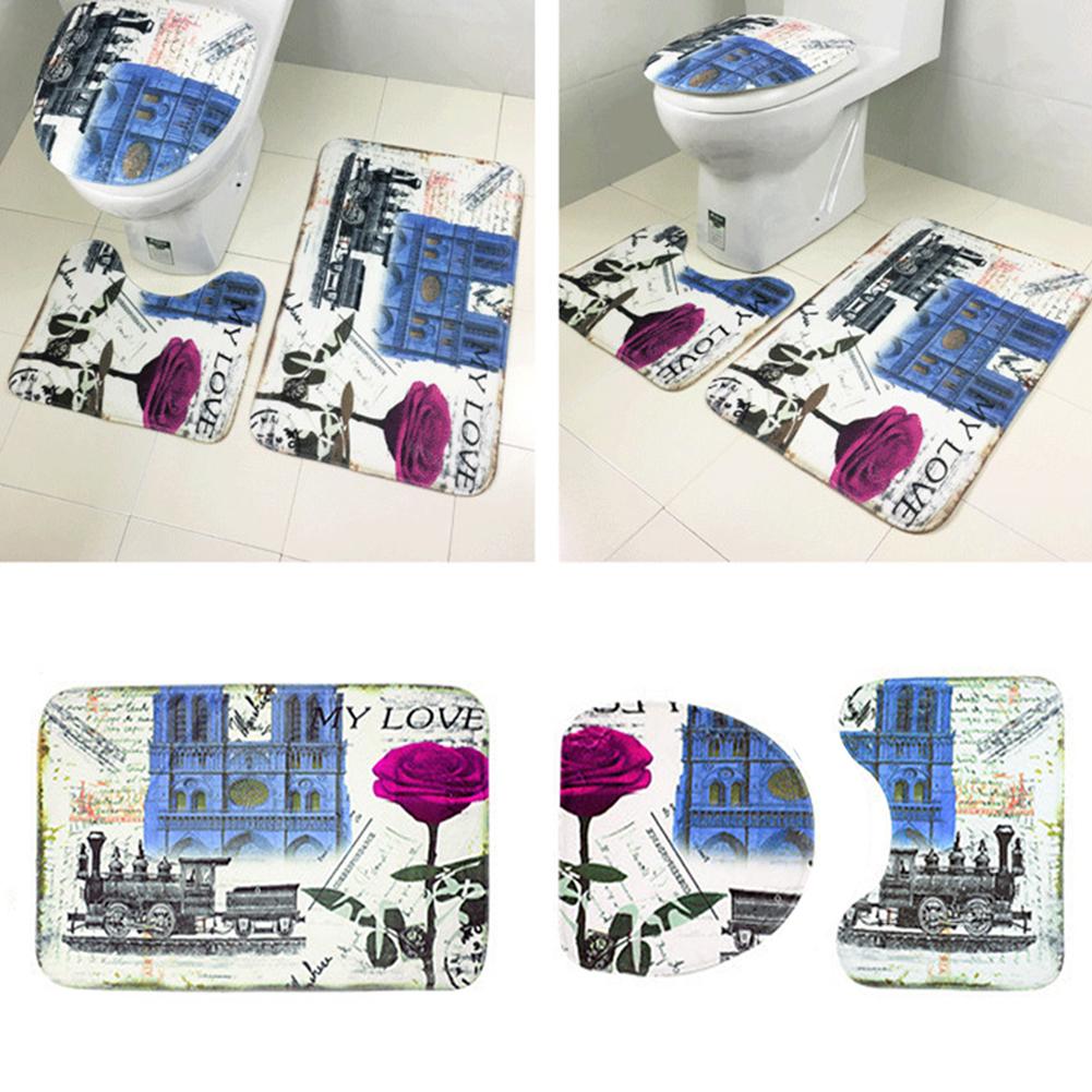 Badezimmer Garnitur 3 Teilig Blau
