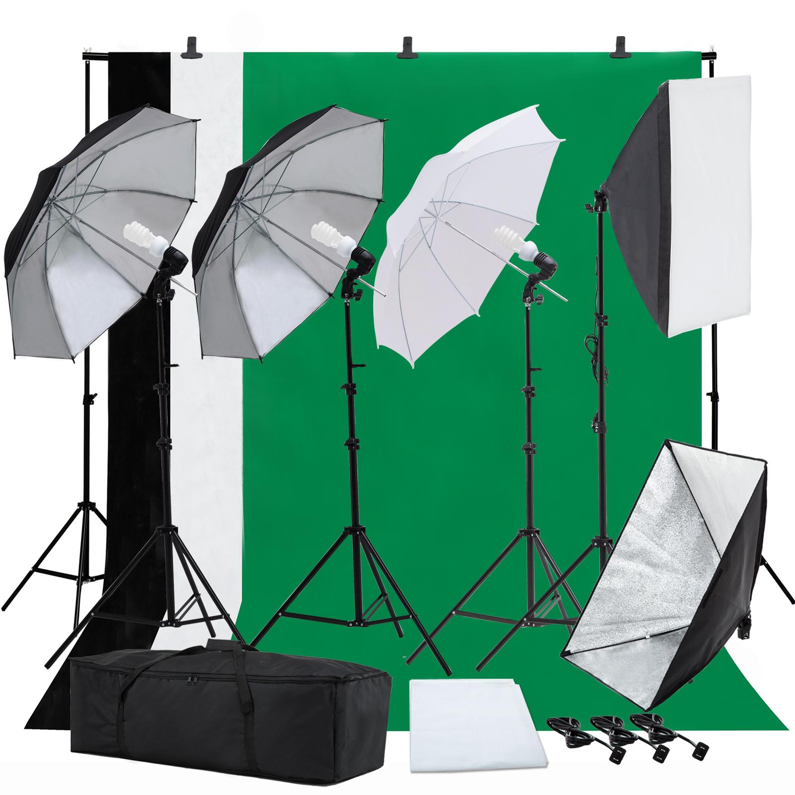 Photo Studio Photography Lighting Kit Umbrella Softbox