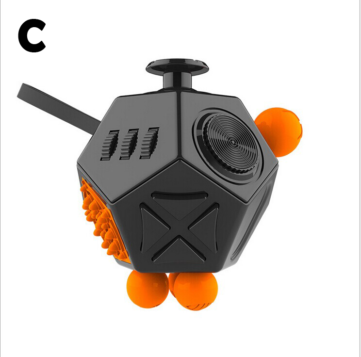 Fidget Cube 12 Side Toy Anxiety Stress Attention Relief