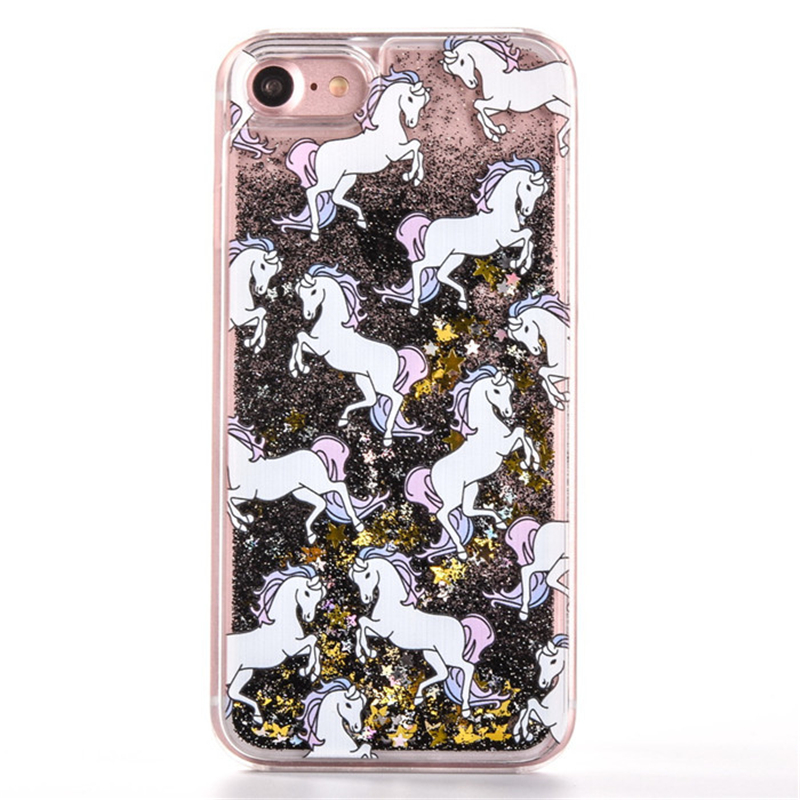 NEW-Unicorn-Glitter-Quicksand-Dynamic-Liquid-Star-Case-for-iPhone-5-6-6s-7-Plus