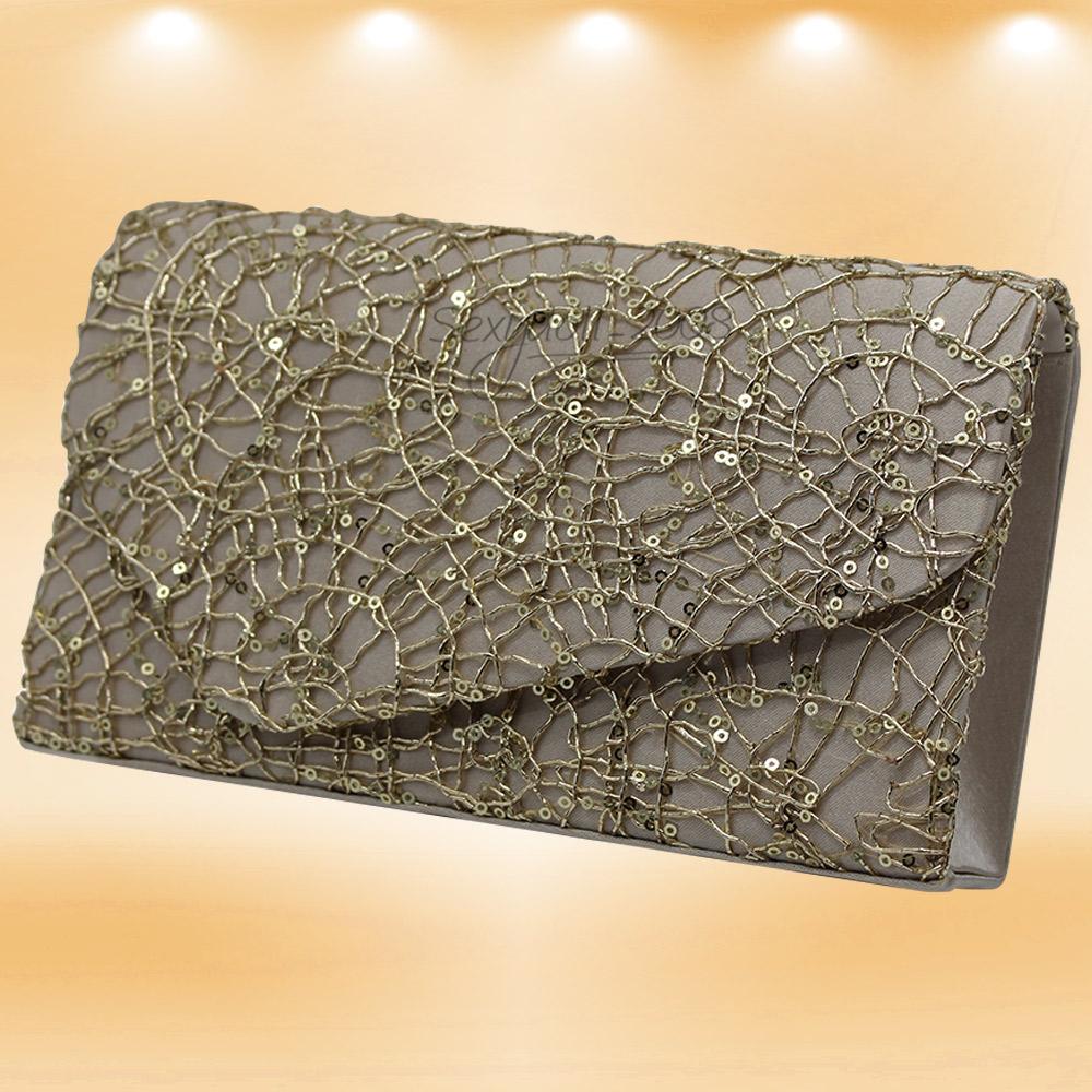 Reino Unido Mujer Bolso Cruzado Lentejuelas Deslumbrante Bolso de Mano Cartera Billetera clutch de Fiesta de Noche