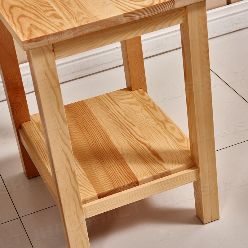 Solid Pine Wood Lamp Table Side End Table 2 Layers Mini Coffee Table Home Decor Ebay