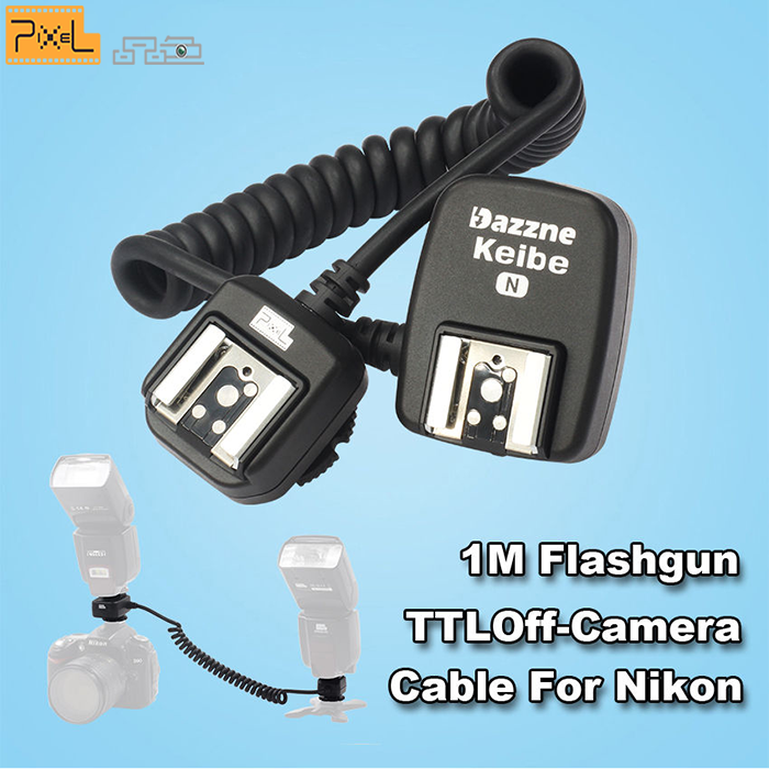 Pixel KEIBE hotshoe HSS 1/8000s TTL Off Camera Flash Cord for Nikon Camera Flash