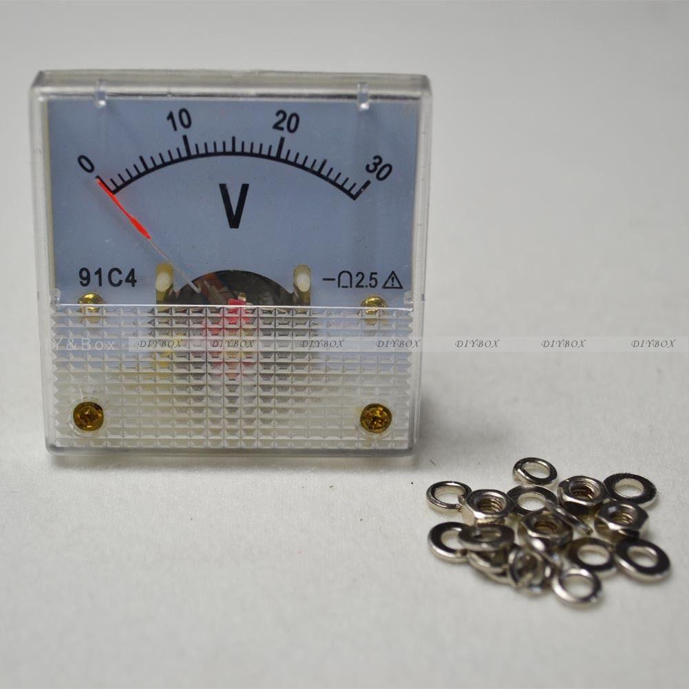 DC 0-30V//50V 0-5A//10A Analog Panel AMP Meter Voltmeter Gauge 85C1 GB//T7676-98