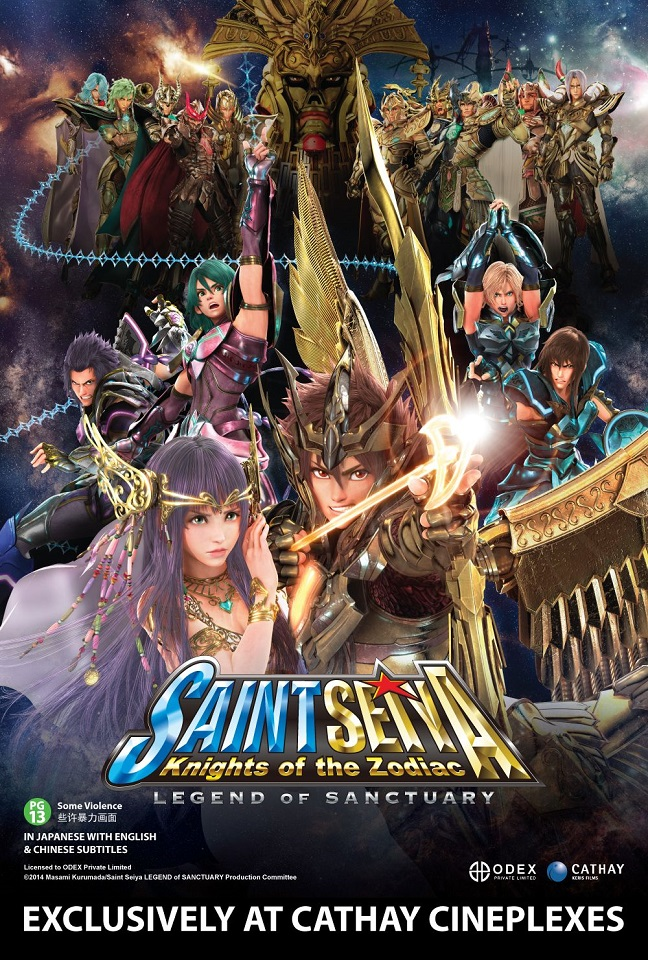 SAINT SEIYA : LEGEND OF SANCTUARY Opening In SG on 09 Oct 2014