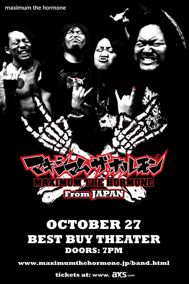 MAXIMUM THE HORMONE solo show in New York City