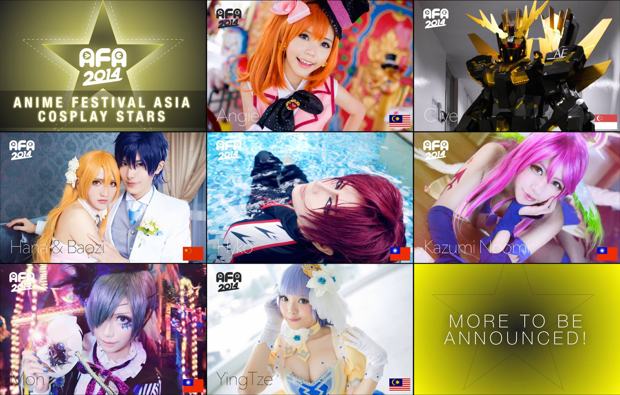 AFA SG 2014: Special Cosplay Guest (Wave 1)