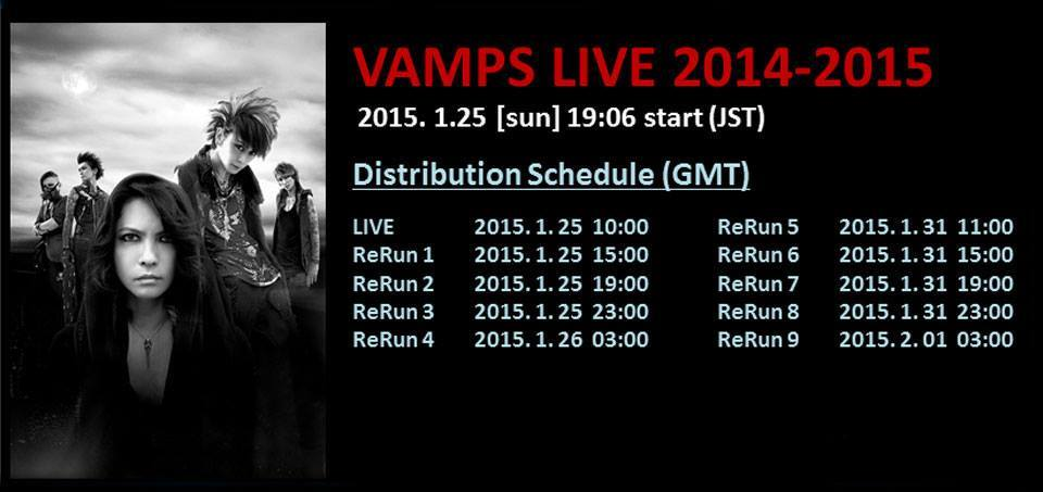 "VAMPS' Live Tour Final ""VAMPS LIVE 2014-2015"" Live Viewing"