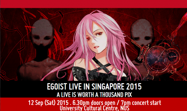 EGOIST LIVE IN SINGAPORE A LIVE IS WORTH A THOUSAND PIX
