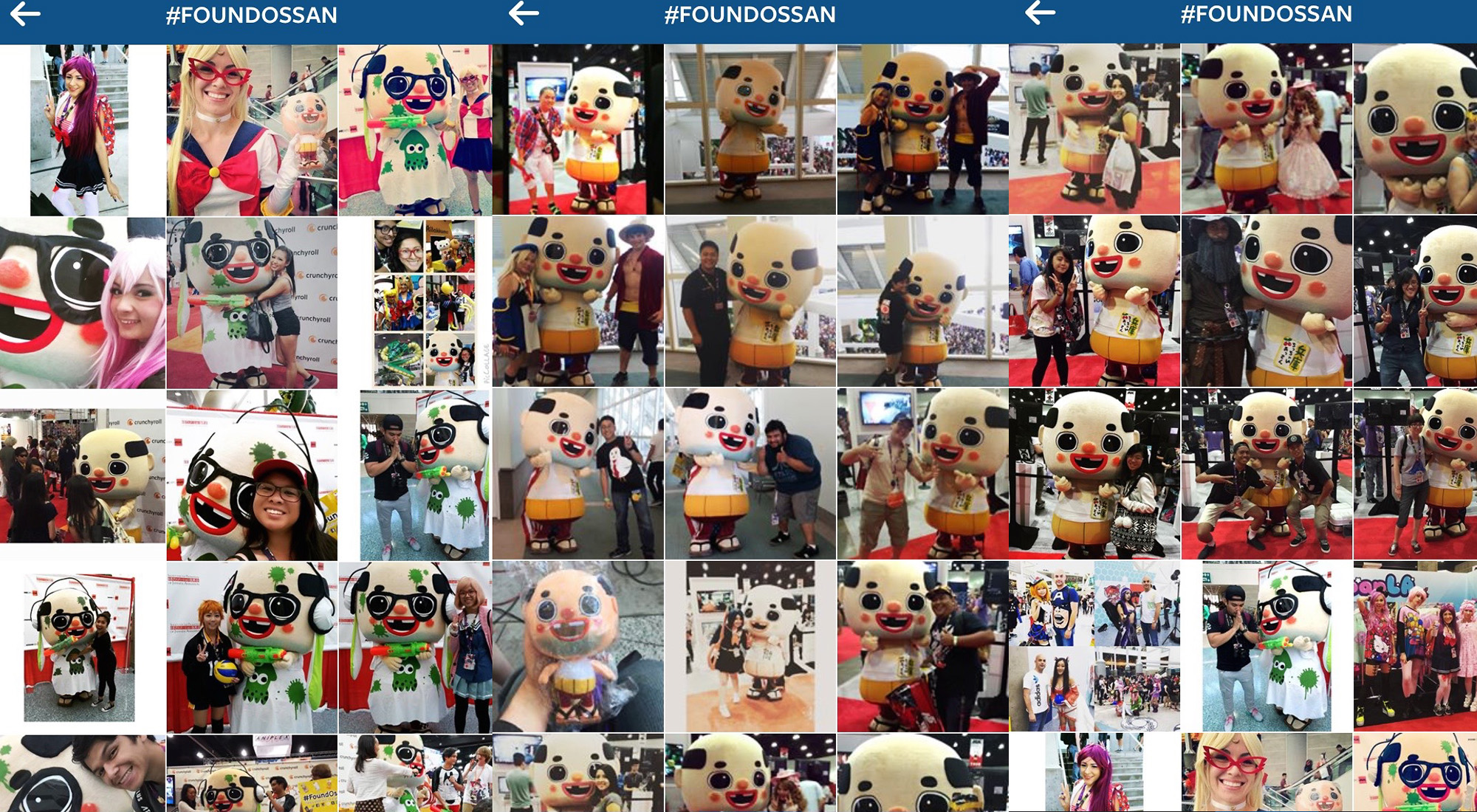Japanese Mascot Ossan Charms Fans at Anime Expo