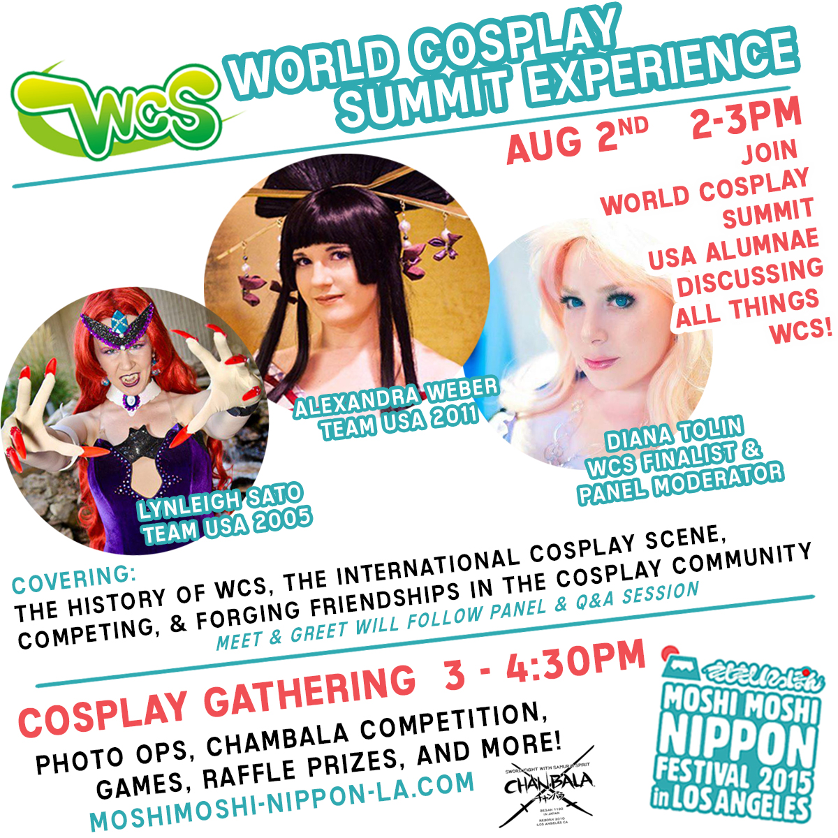 [Press Release] World Cosplay Summit Panel to be Featured at Moshi Moshi Nippon LA