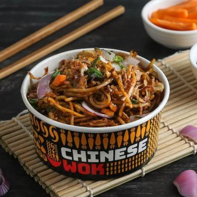 Veg Chilli Basil With Noodles image