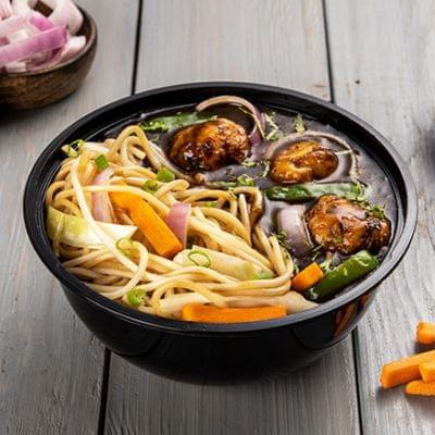 Veg Manchurian With Choice Of Noodles Bowl image