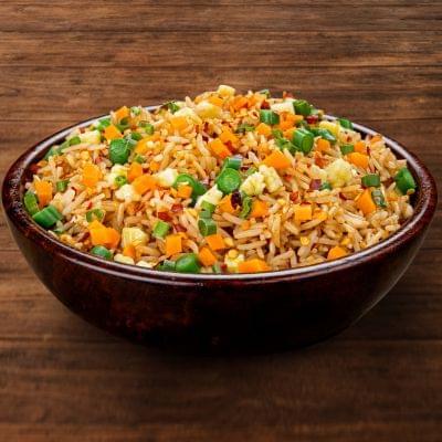 Veg Chilli Garlic Fried Rice Bowl image