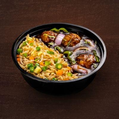 Chicken Manchurian With Egg Fried Rice Bowl image