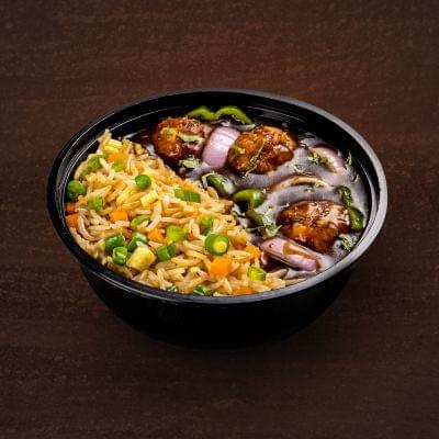 Chicken Manchurian With Fried Rice Bowl image