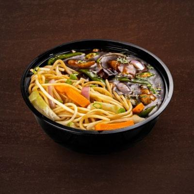 Chilli Chicken With Burnt Garlic Noodles Bowl image
