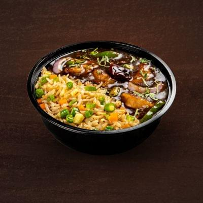 Chilli Chicken With Egg Fried Rice Bowl image
