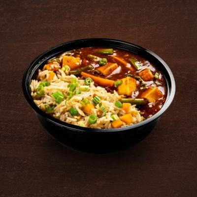 Chilli Paneer With Fried Rice Bowl image