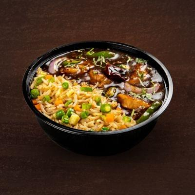 Kung Pao Chicken With Burnt Garlic Rice Bowl image