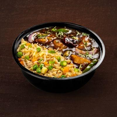 Kung Pao Chicken With Egg Fried Rice Bowl image