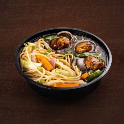 Veg Manchurian With Hakka Noodles Bowl image