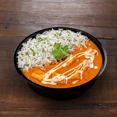 Spicy Paneer Butter Masala Rice Bowl image