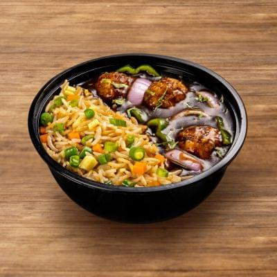 Chicken Manchurian With Fried Rice image