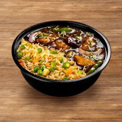 Chilli Chicken With Burnt Garlic Rice image