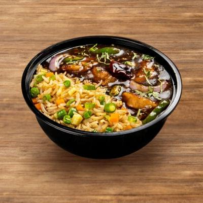 Chilli Chicken With Egg Fried Rice image