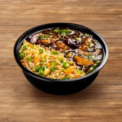 Chilli Chicken With Fried Rice image