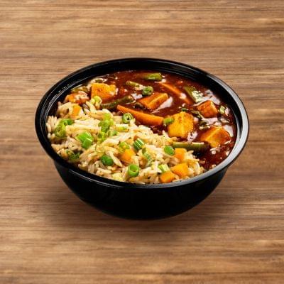 Chilli Paneer With Burnt Garlic Rice image