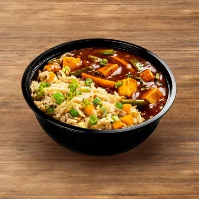 Chilli Paneer With Fried Rice image