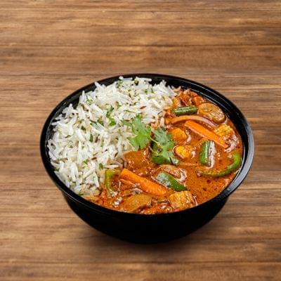 Veg Kadai Rice Bowl image