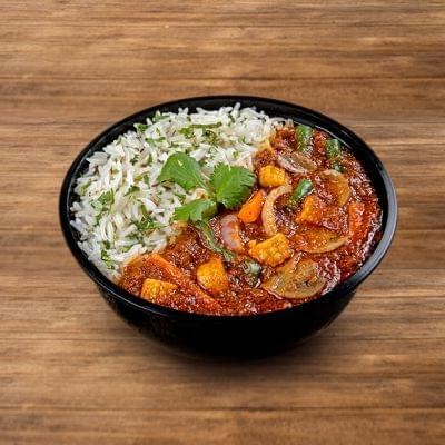Veg Lababdar Rice Bowl image