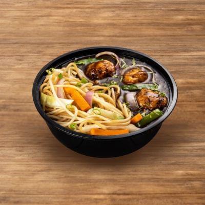 Veg Manchurian With Burnt Garlic Noodles image