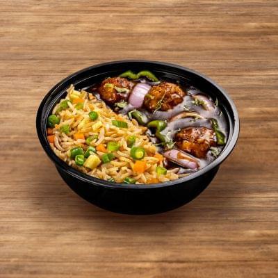 Veg Manchurian With Burnt Garlic Rice image